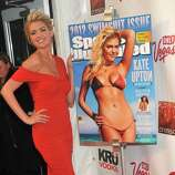 Sports Illustrated Swimsuit edition cover model Kate Upton celebrates her cover at the magazine's launch party in New York, Tuesday, Feb. 14, 2012.