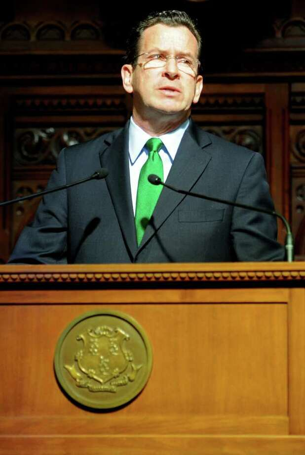 Governor Dannel Malloy delivers his annual State of the State Address to the Connecticut General Assembly Wednesday, Feb. 8, 2012 at the Capitol in Hartford, Conn. Photo: Autumn Driscoll / Connecticut Post