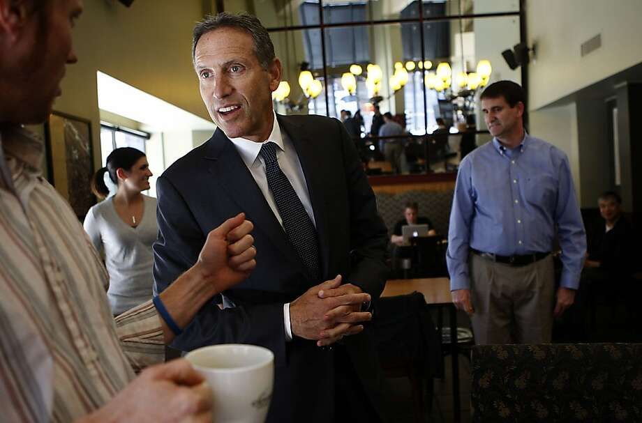 Starbucks Chief Executive Officer Howard Schultz's Create Jobs for USA campaign has raised more than $7 million in donations since it began in October. Photo: Liz Hafalia, The Chronicle