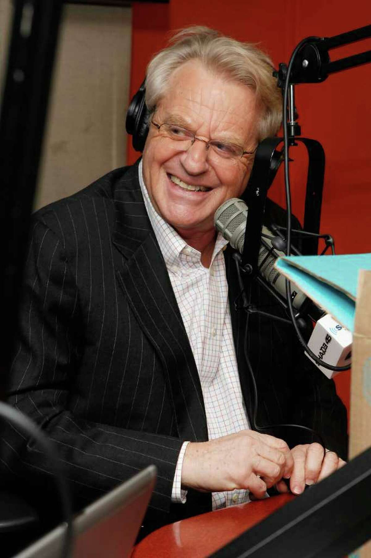 TV personality Jerry Springer, pictured visiting SiriusXM Studio in New York City January 19, was spotted having a birthday cigar at Connecticut Cigar Lounge in Stamford Tuesday. (Photo by Cindy Ord/Getty Images)