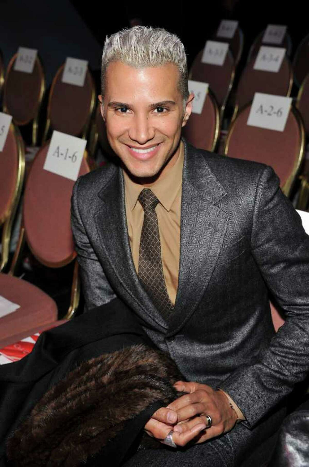 TV personality Jay Manuel, pictured attending the Heart Truth's Red Dress Collection 2012 Fashion Show in New York City Feb. 8, was spotted having dinner at Napa & Co in Stamford last weekend. (Photo by Theo Wargo/Getty Images for Heart Truth)