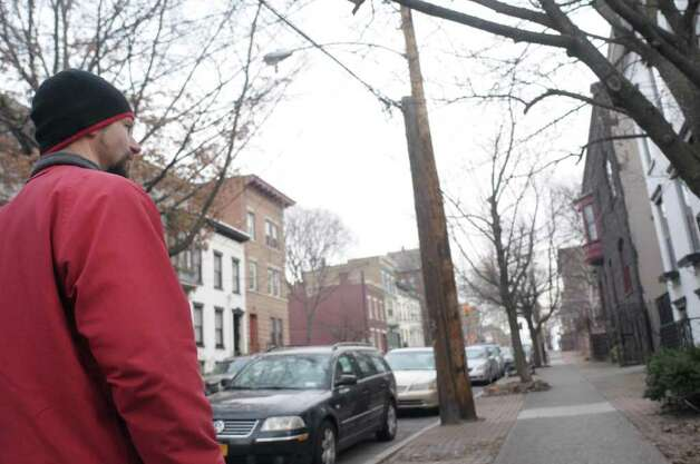 George de Piro of Albany takes a walk through his Center Square neighborhood during an interview on Thursday, Feb. 16, 2012 in Albany, NY. (Paul Buckowski / Times Union) Photo: Paul Buckowski