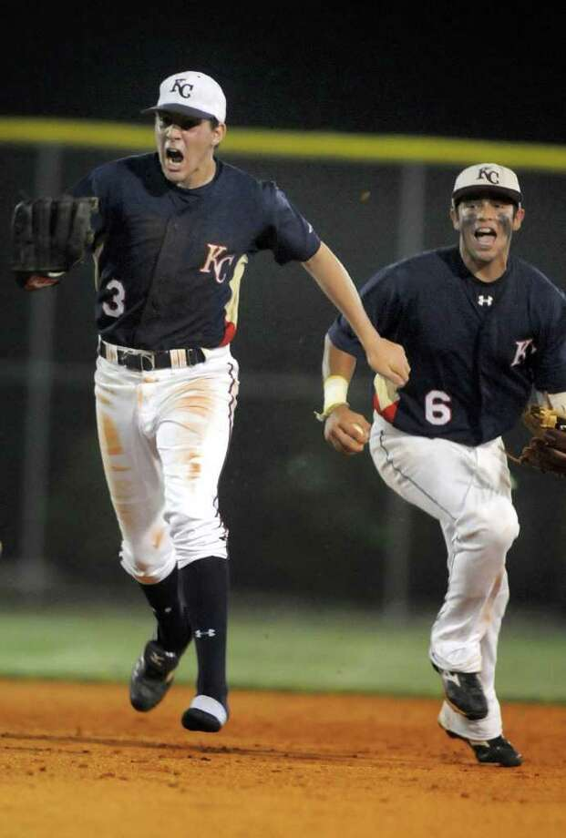 Austin Dean, left, and C.J. Hinojosa not only play together in the infield for Klein Collins but also share honors on the All-Greater Houston preseason team. Klein Collins trails Houston Memorial in the area 5A preseason rankings. Photo: Jerry Baker / Freelance