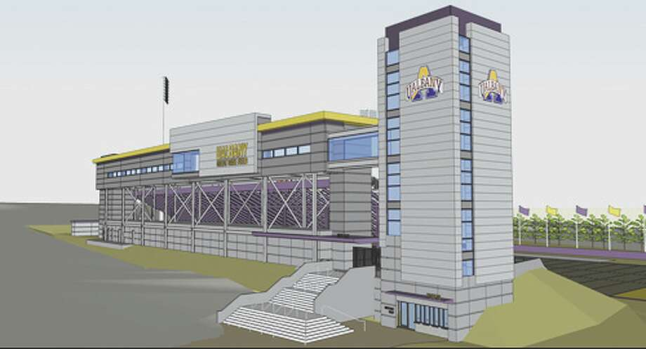 Rendering of proposed UAlbany athletic building.
