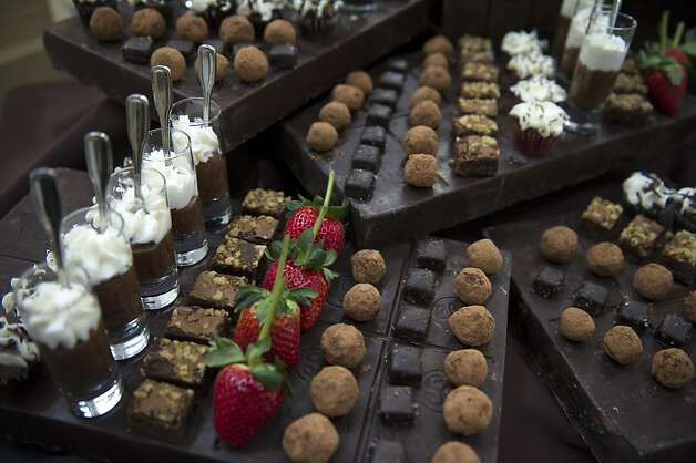 An assortment of desserts from Susan Foord Catering and Cafe are displayed during the San Francisco Chronicle Wine Competition, Saturday February 18, 2012 in San Francisco, Calif. Photo: David Paul Morris, Special To The Chronicle