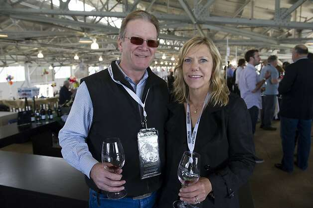 Steve Hearst and his wife Barbara Hearst during the San Francisco Chronicle Wine Competition, Saturday February 18, 2012 in San Francisco, Calif. Photo: David Paul Morris, Special To The Chronicle