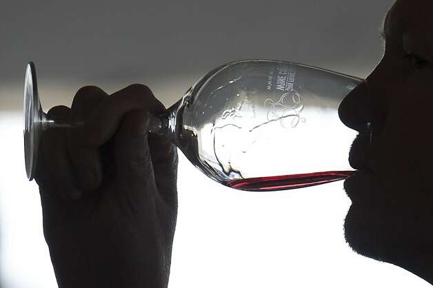 A patron tastes wine during the San Francisco Chronicle Wine Competition, Saturday February 18, 2012 in San Francisco, Calif. Photo: David Paul Morris, Special To The Chronicle
