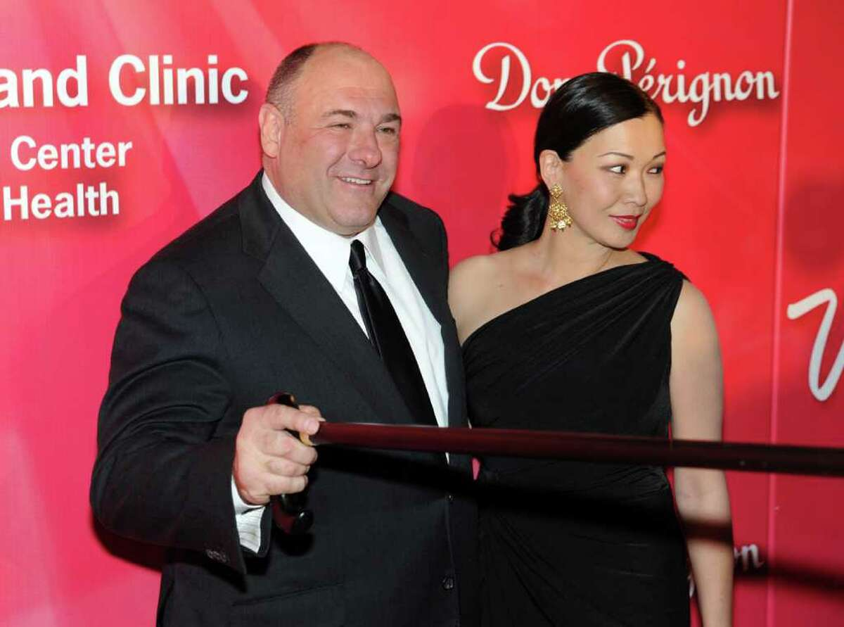 """In this photo provided by the Las Vegas News Bureau, actor James Gandolfini walks the red carpet at the Keep Memory Alive ?""""Power of Love Gala?"""" fundraiser honoring Muhammad Ali?'s 70th birthday at the MGM Grand Garden Arena in Las Vegas on Saturday, Feb. 18, 2012. Proceeds benefitted the Cleveland Clinic Lou Ruvo Center for Brain Health?'s work toward enhanced treatments and research of neurocognitive disorders and the Muhammad Ali Center in Louisville, Kentucky. (AP Photo/Las Vegas News Bureau, Brian Jones)"""
