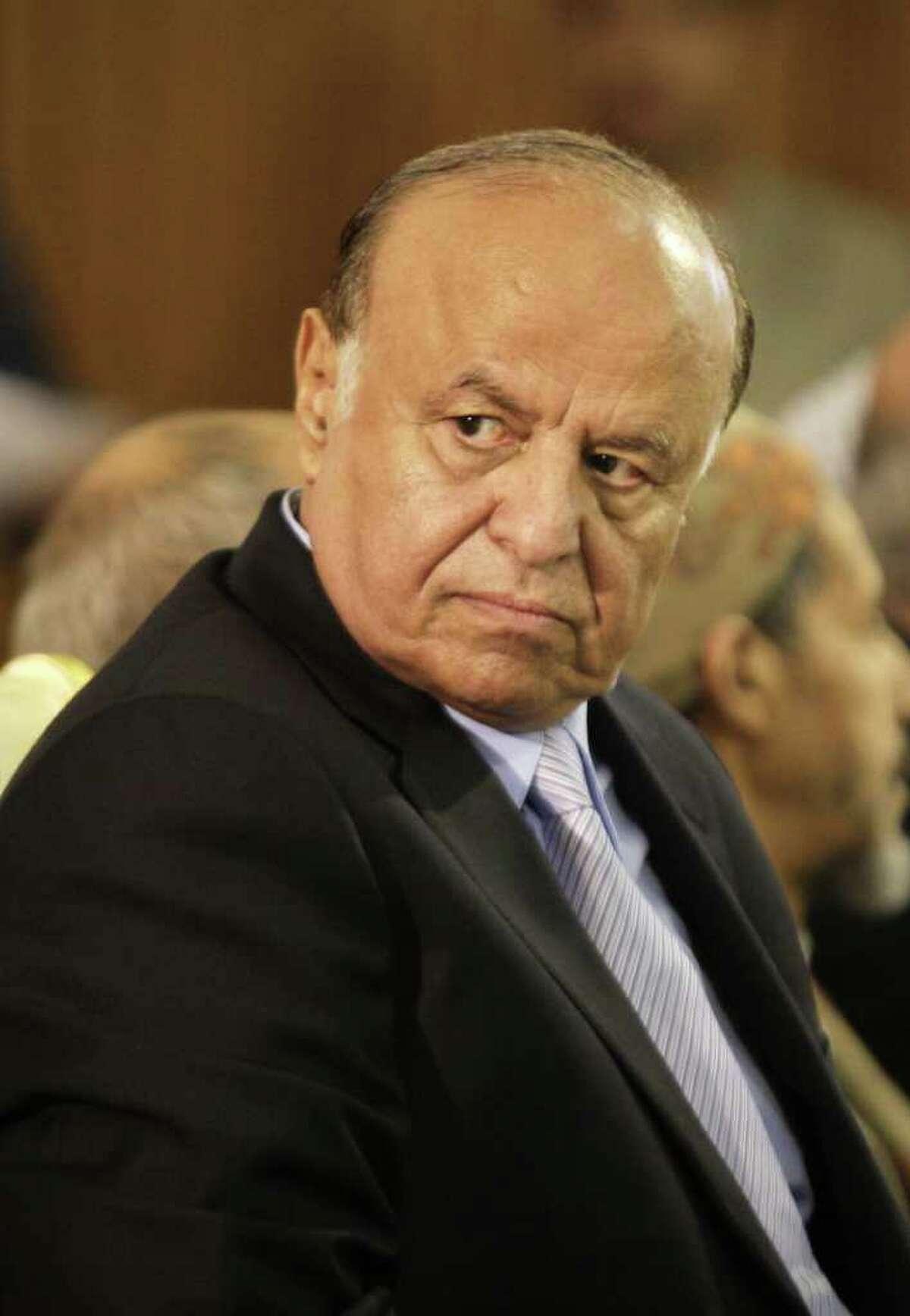 Vice President Abed Rabbo Mansour Hadi nears presidency.