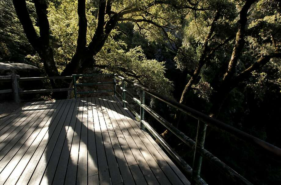 The Castle Rock Falls overlook, at Castle Rock State Park on Wednesday August 17, 2011, in Los Gatos, Ca. Castle Rock is one of the Bay Area parks currently on the closure list which may close down due to California budget cuts. Photo: Michael Macor, The Chronicle