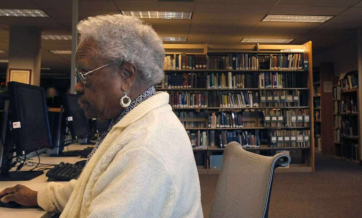 Mrs. Price finds ancestry of African American families. She uses a special software to research data collected by Mormon Church in Utah. At the center in Oakland, Mrs. Price also teaches classes on haw to find one's family tree. February 14, Oakland, California