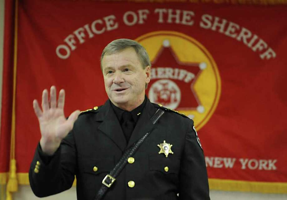 Sheriff Jack Mahar at a swearing-in ceremony at the Rensselaer County Jail in Troy last month. Mahar asked state and federal authorities to investigate improprieties in his department involving corrections officers. His opponent in last November's election, Gary Gordon, alleged Mahar ignored similar allegations involving deputies. (Lori Van Buren / Times Union) Photo: Lori Van Buren / 00015925A