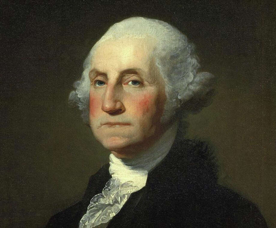 A portrait of George Washington by the painter Gilbert Stuart. The nation's first president records a visit to southwestern Connecticut in 1789, and states that he dined and lodged in Fairfield. What he ate, however, remains a mystery. Photo: Contributed Photo / Fairfield Citizen contributed