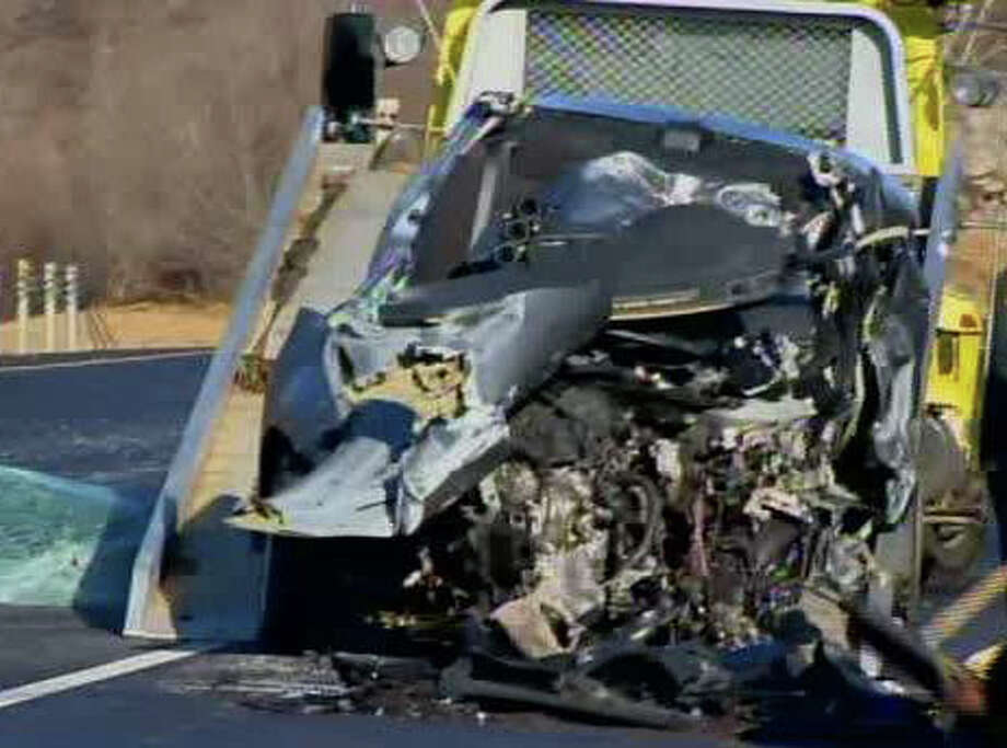 Two people were killed early Sunday morning in a head-on collision on Route 9 in Essex, Conn. The drivers involved have been identified as Afzaal Muhammed, 54, of New London and Eunmi Yoon, 28, of Mystic. Photo: WTNH