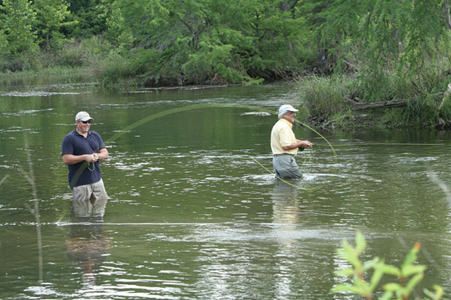 The Guadalupe River in Kerrville offers spots for fly fishing. (Kerrville Convention & Visitors Bureau) Photo: Texas Hill Country / Kerrville Convention & Visitors Bureau