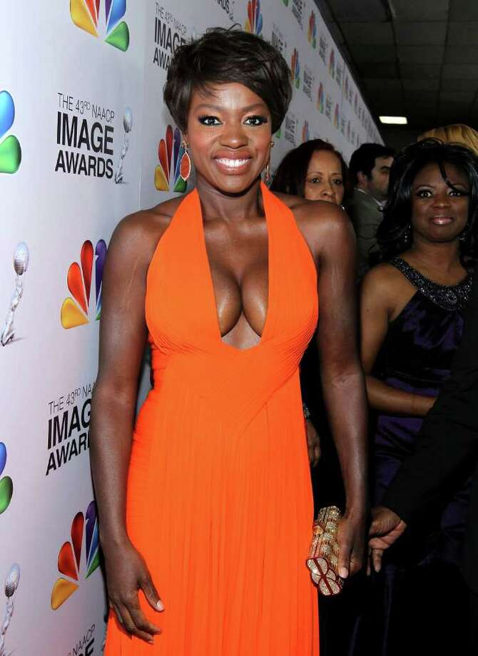Whoa! No maid uniform here for Viola Davis at the 43rd NAACP Image Awards at The Shrine Auditorium on Feb. 17 in Los Angeles. Photo: Mark Davis, Getty Images For NAACP Image Awa / 2012 Getty Images
