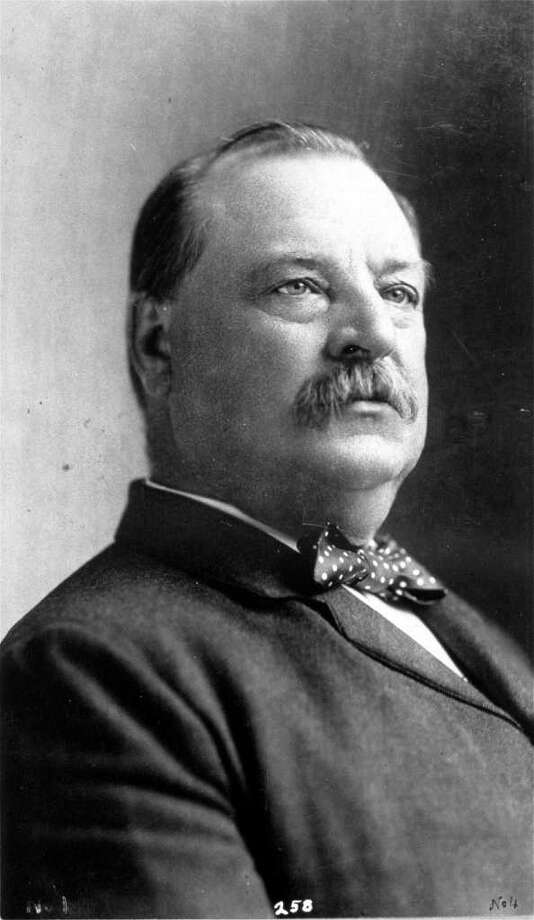 """Grover Cleveland used a Bible given to him by his mother in both inaugurations. in 1885, the Bible opened by chance to Psalm 112:4-10. In 1893, the Bible was open to Psalm 91:12-16. Psalm 112:4""""Even in darkness light dawns for the upright, for those who are gracious and compassionate and righteous.""""Psalm 91:14""""'Because he loves me,' says the Lord, 'I will rescue him; I will protect him, for he acknowledges my name.'"""" Photo: Anonymous, ASSOCIATED PRESS / NYPL PICTURE COLLECTION"""