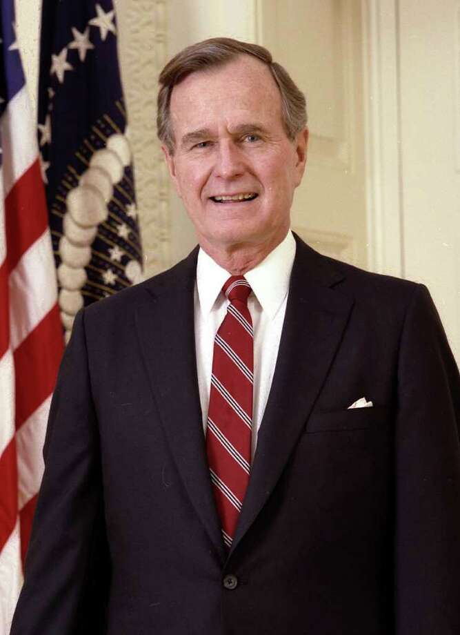 President George H.W. Bush, in his official presidential portrait. 