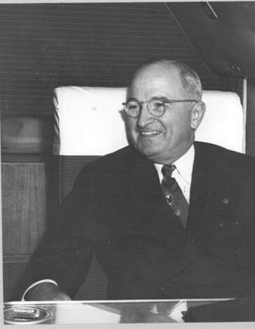Photograph of President Truman on board the Independence, circa 1951. Photo: Truman Library