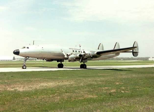 "The Lockheed VC-121E is a military version of the Constellation that was President Dwight Eisenhower's personal airplane between 1954 and 1961, when he left office. First Lady Mamie Eisenhower christened it ""Columbine III"" in honor of the official flower of Colorado, her adopted home state, on Nov. 24, 1954. Photo: U.S. Air Force Photo"