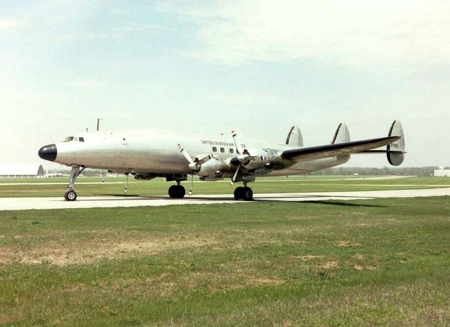 "The jets were a big step up from Dwight Eisenhower's Lockheed VC-121E, which was a military version of the Constellation. First Lady Mamie Eisenhower christened it ""Columbine III"" in honor of the official flower of Colorado, her adopted home state, on Nov. 24, 1954. Photo: U.S. Air Force Photo"