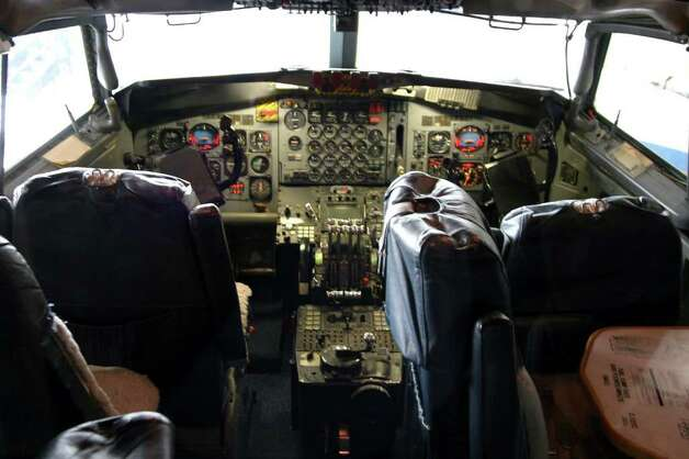 The flight deck of the Boeing VC-137C SAM 26000 is shown at the National Museum of the United States Air Force. Photo: U.S. Air Force