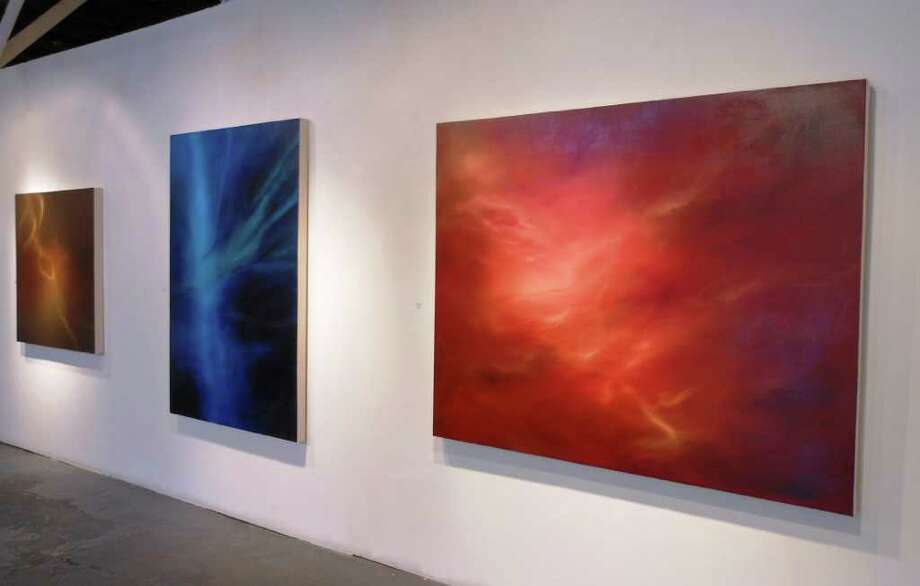 Julie Shipp Colbert is exhibiting her new Surge paintings at Joan Grona Gallery. Photo: Steve Bennett, San Antonio Express-News
