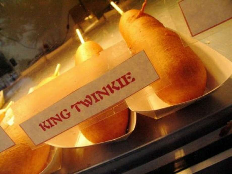 Fried Twinkie on a stick