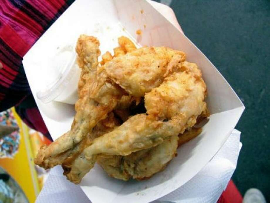 Ribbit: fried frog legs