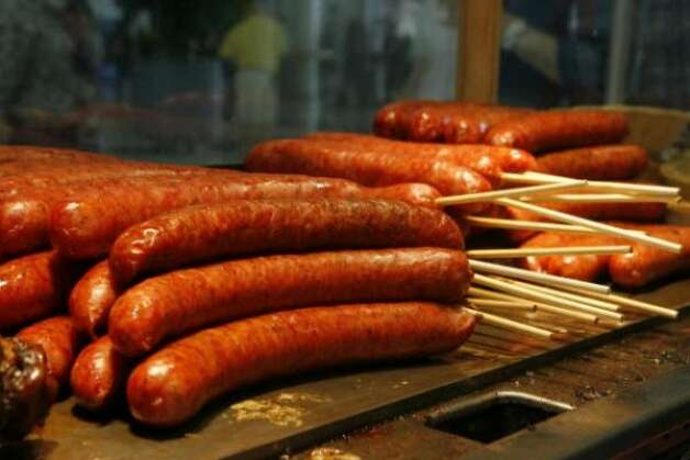 Sausage on a stick. (Steve Campbell / chron.com)