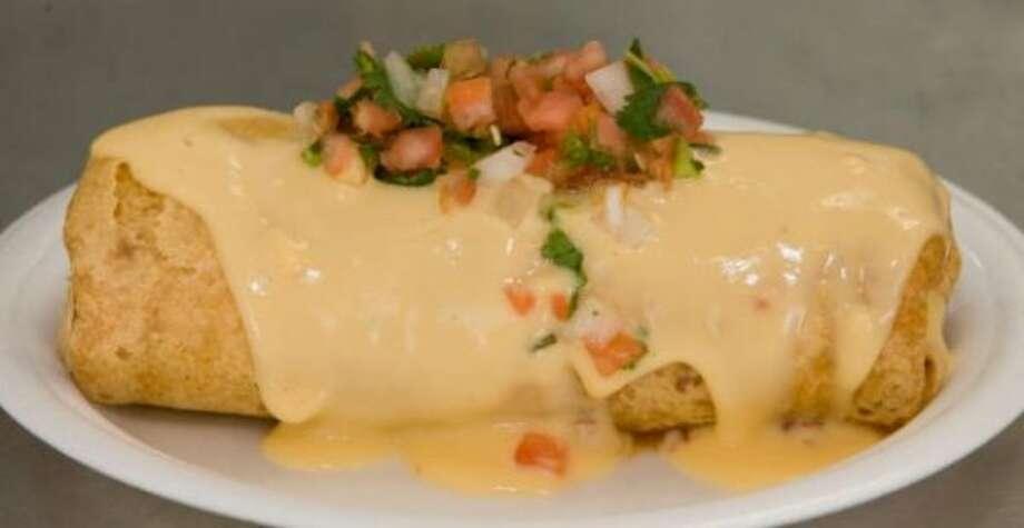 Chipotle beef burrito from Tad's Bodacious Burrito booth.