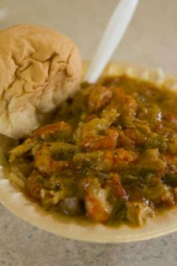 Crawfish etouffee from the New Orleans Shrimp Hotel.