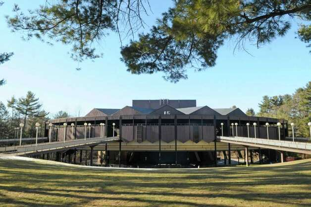 A view of the Saratoga Performing Arts Center at Spa State Park where renovations have begun on the facade of the structure, seen here on Monday, Feb. 20, 2012 in Saratoga Springs, NY. (Paul Buckowski / Times Union) Photo: Paul Buckowski