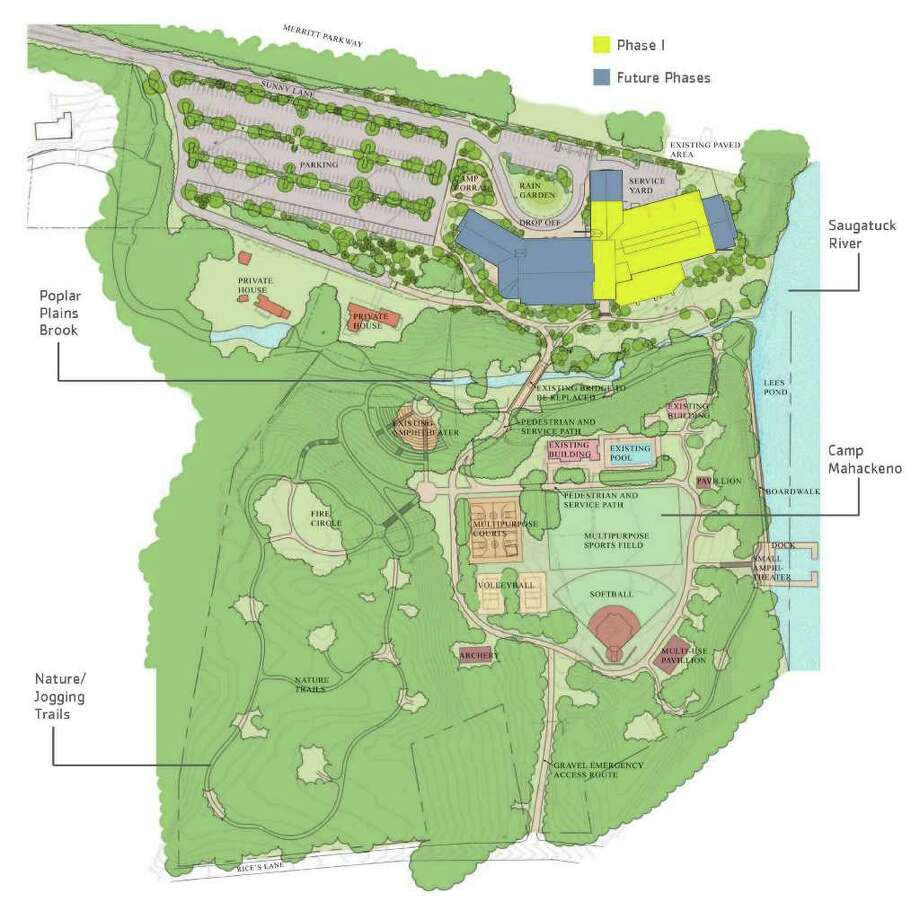 The Westport Weston Family Y released last week this site plan for its new center at Camp Mahackeno. Construction of the facility is scheduled to begin in October 2012. Photo: Contributed Photo / Westport News contributed