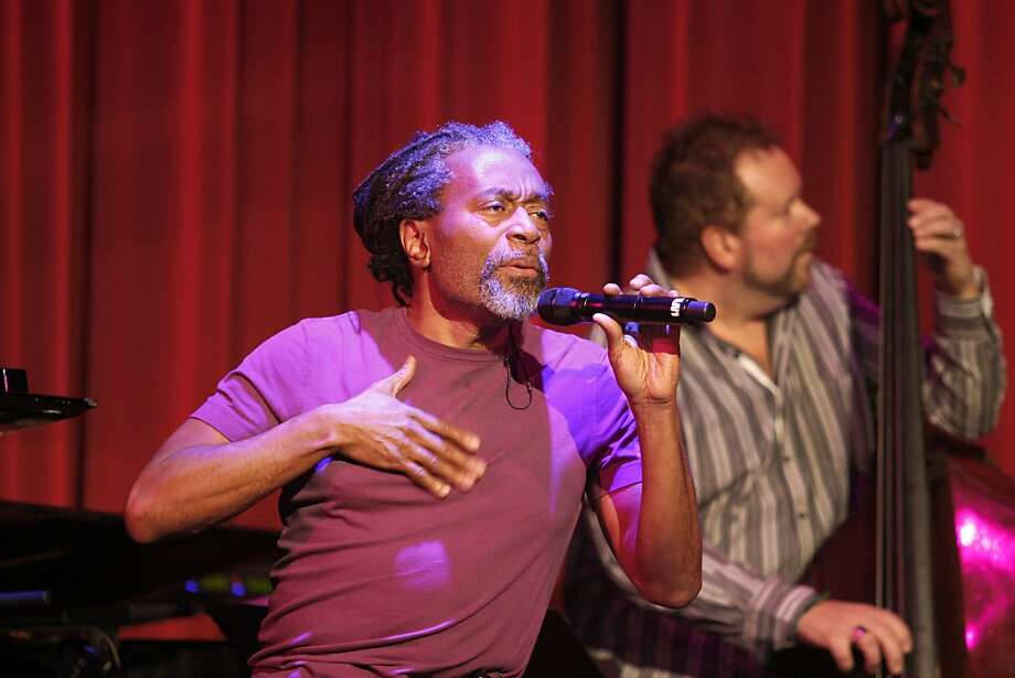 Bobby McFerrin took to the microphone for a tribute to Eddie Marshall. A jazz tribute to the late Eddie Marshall was held at Yoshi's on Fillmore Street in San Francisco Sunday, February 19, 2012. Photo: Sean Culligan, The Chronicle