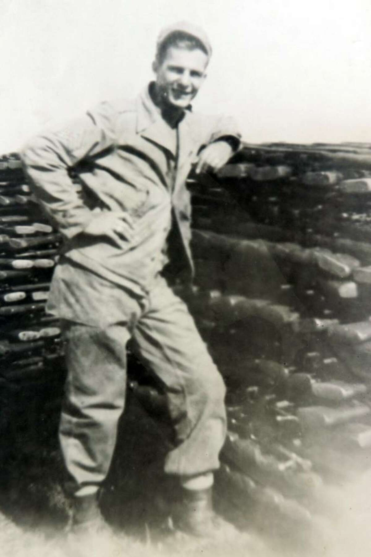 Walter Stachacz poses as a Sargeant in the U.S. Army while serving in Japan in October 1945, shortly after the end of WWII.