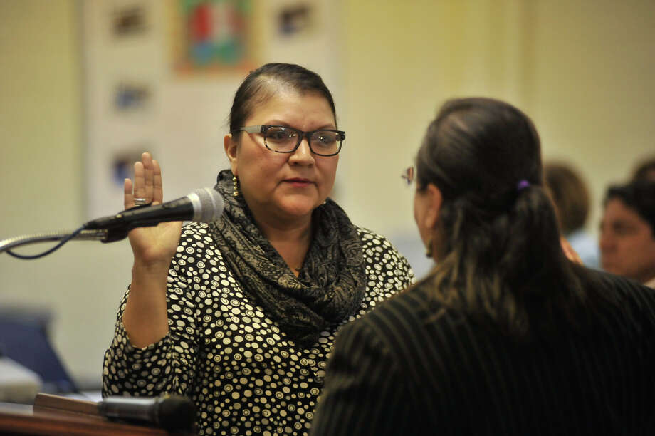 Feb. 20, 2012 -- Deborah Guerrero was appointed by the SAISD board to fill the district 3 vacancy of resigning board member Carlos Villareal. Photo: ROBIN JERSTAD, FOR THE EXPRESS-NEWS / SAN ANTONIO EXPRESS-NEWS