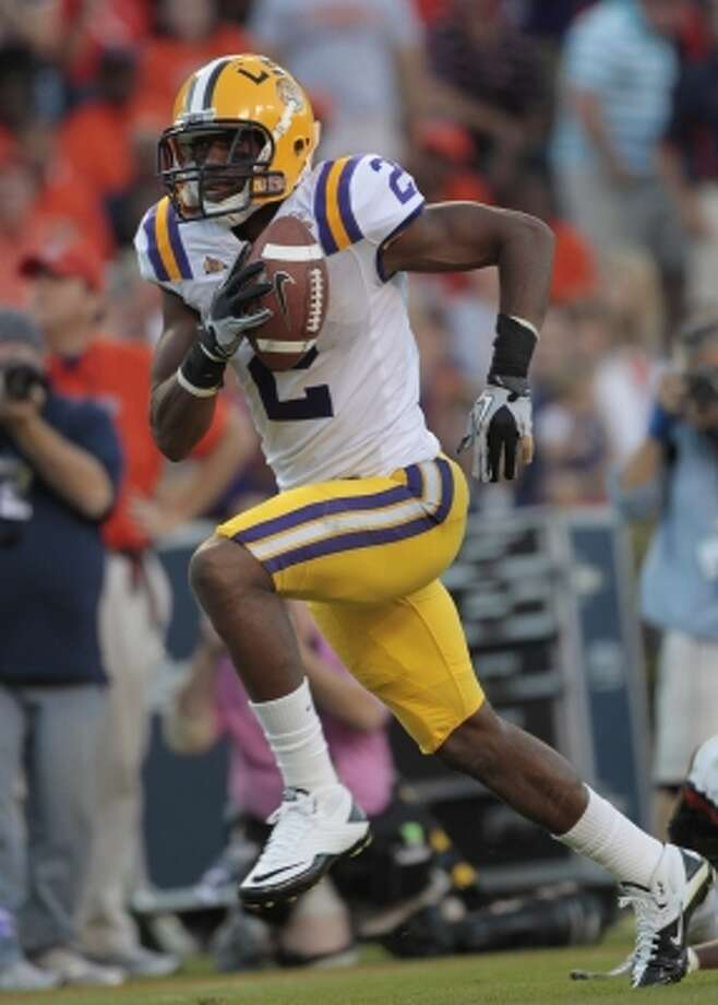 Rueben Randle, WR, LSU - Randle's size is impressive, but it will become even more impressive when he is running in the 4.46 range and when he's testing as well as expected with his vertical leap.  Possible 1st round pick of the Texans. (Dave Martin / Associated Press)