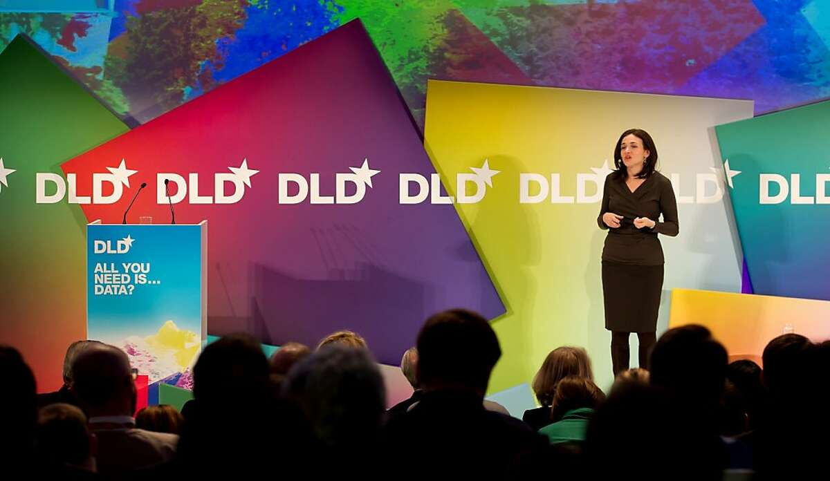 Sheryl Sandberg, chief operating officer (COO)of social media giant Facebook, speaks during the DLD (Digital, Life, Design) Conference in Munich, on January 24, 2012. Founded in 2005, the DLD conference offers debates on deals with the transformation of markets, media, culture and society. AFP PHOTO / SVEN HOPPE +++ GERMANY OUT (Photo credit should read Sven Hoppe/AFP/Getty Images)