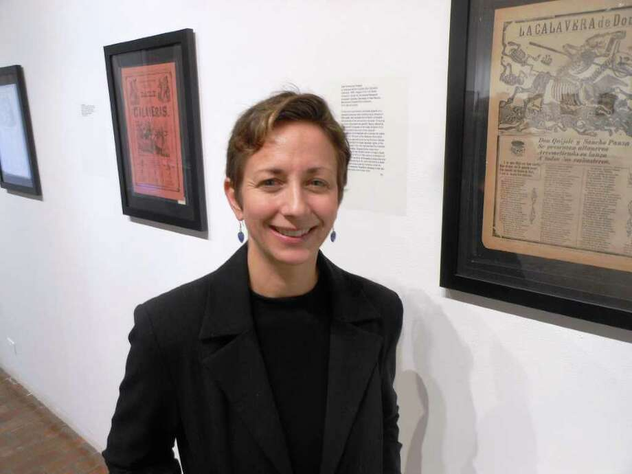 "UTSA art history faculty member Teresa Eckmann curated ""Posada's Broadsheets: Of Love and Betrayal."" Photo: Courtesy UTSA Art Gallery"