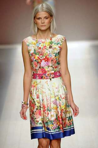 This floral print dress from the ready to wear Spring Summer 2012  Blugirl collection is perfect for the bridge playing set seen The Help. / The Help