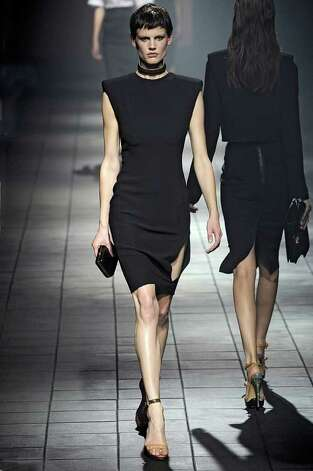 This dark look from the 2012 spring ready-to-wear collection from Lanvin would suit The Girl With the Dragon Tattoo, right. / The Girl with the Dragon Tattoo