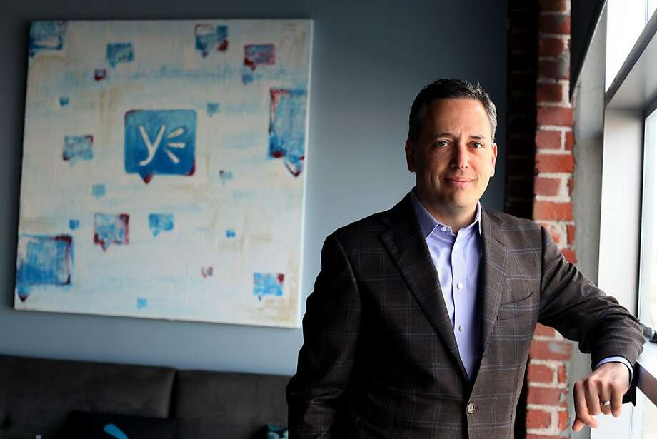 David Sacks, former CEO of Yammer sits in his office, Monday February 13, 2012, in San Francisco, Calif. Yammer is a social network for businesses. Photo: Lacy Atkins, The Chronicle