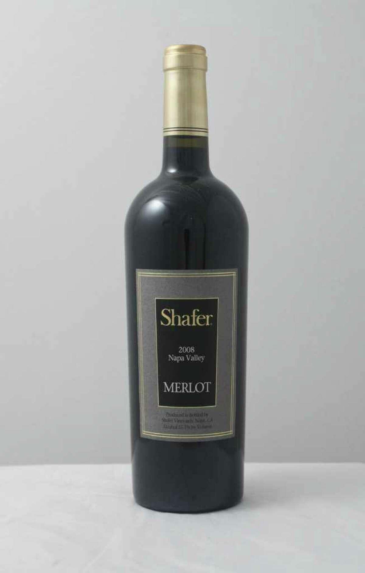 (For the Chronicle/Gary Fountain, February 15, 2012) Shafer 2008 Merlot.