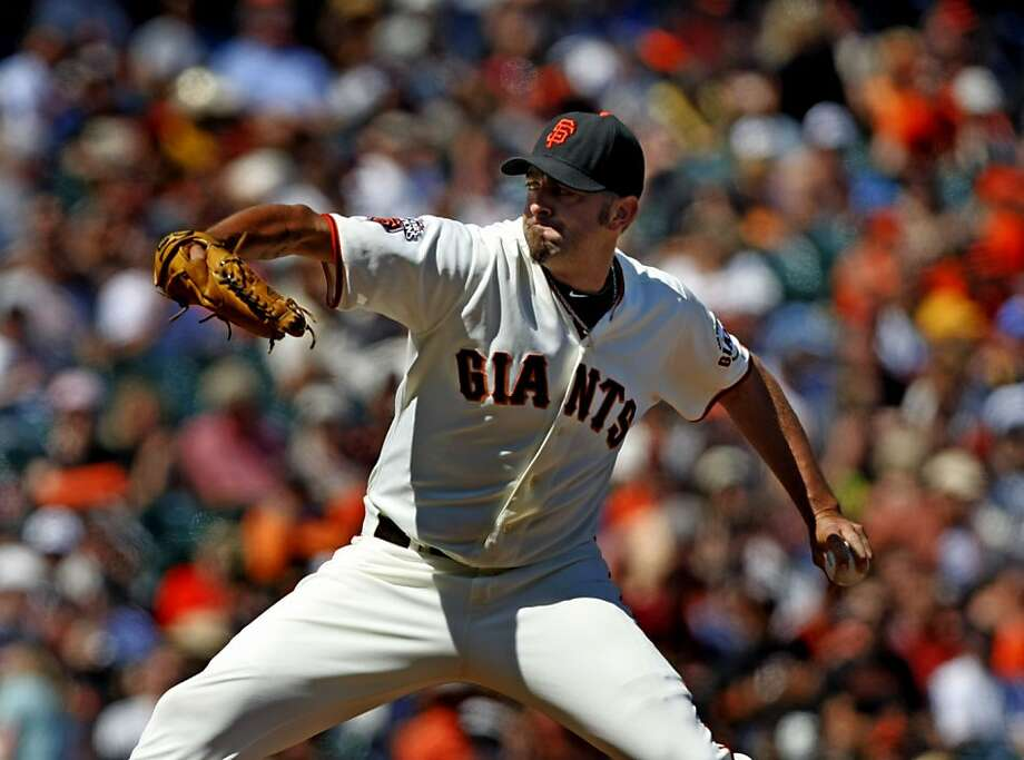 San Francisco Giants pitcher Jeremy Affeldt works against the Pittsburgh Pirates during their baseball game, Wednesday, Aug 10, 2011, in San Francisco. Photo: Lance Iversen, The Chronicle