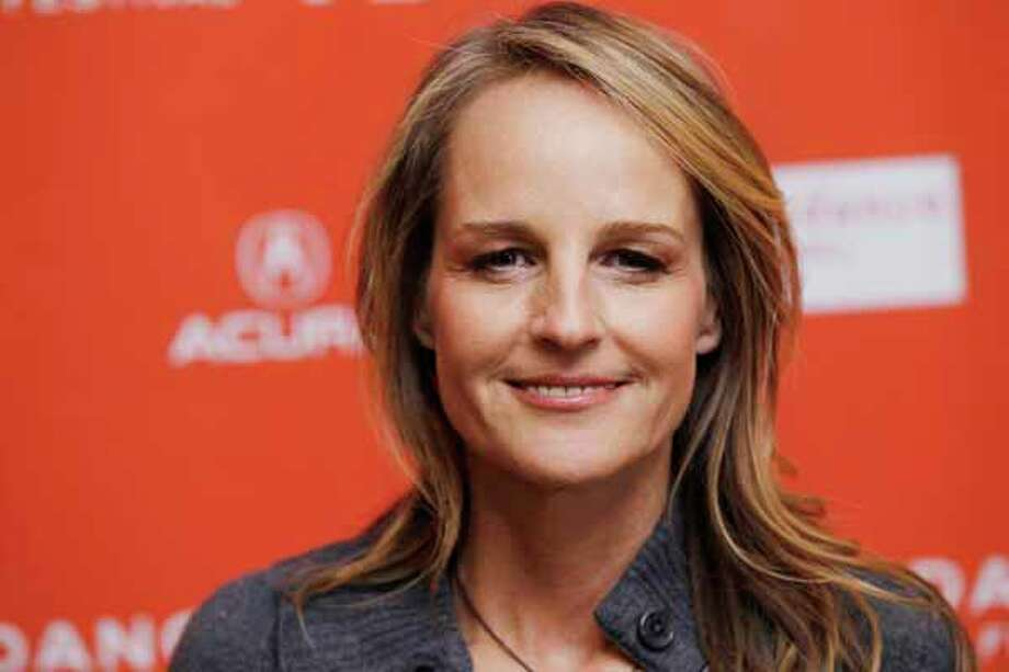 """Helen Hunt had to party all by herself after she was turned away from a star-studded Sundance Film Festival party, she told Jay Leno. """"(The Sessions) premiered at the Sundance Film Festival... and I had never been to Sundance; I thought of it as where the groovy, young indie kids go - and now I was invited. So I got off the plane, I went to a Hollywood party and was not let in. """"There was a 300 pound bouncer, who did not care about me... He was just not interested. He didn't know who I was. So I left and went home and watched the Katy Perry movie on pay-per-view."""" It's ok, Helen Hunt, we were invited to that party, but we didn't want to go either. Photo: Danny Moloshok, Wire / R-MOLOSHOK"""