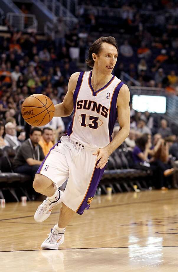 Phoenix Suns' Steve Nash against the Washington Wizards in an NBA basketball game Monday, Feb. 20, 2012, in Phoenix.(AP Photo/Paul Connors) Photo: Paul Connors, Associated Press