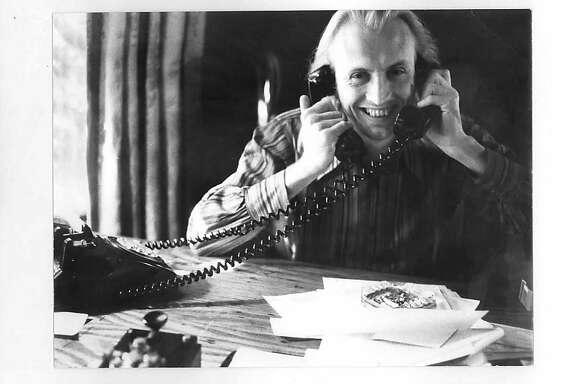 Jon McIntire, working the phones at the Grateful Dead's office in San Rafael.