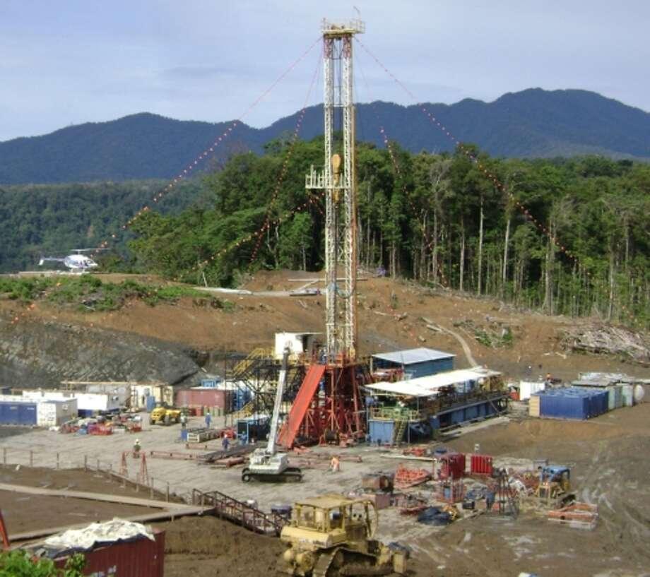 Drilling rig in Papua New Guinea. (PRNewsFoto/InterOil Corporation)