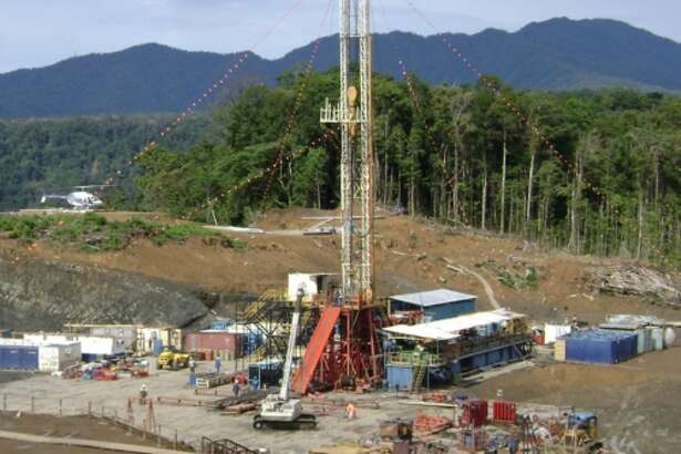 InterOil Rig #2 spudding the Triceratops-2 well in Papua New Guinea. (PRNewsFoto/InterOil Corporation)
